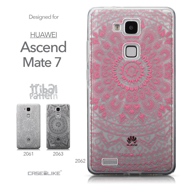 Collection - CASEiLIKE Huawei Ascend Mate 7 back cover Indian Line Art 2062
