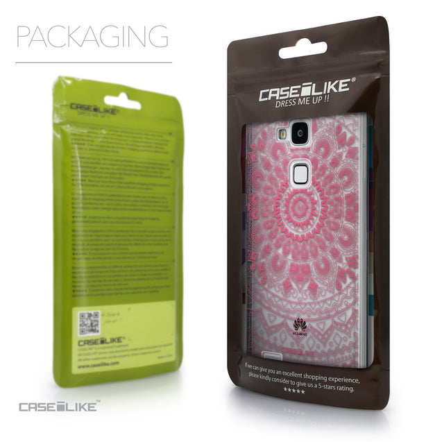 Packaging - CASEiLIKE Huawei Ascend Mate 7 back cover Indian Line Art 2062