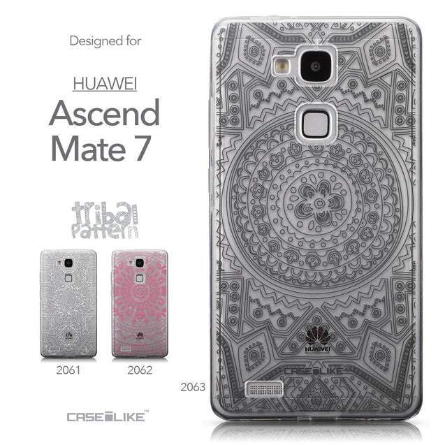 Collection - CASEiLIKE Huawei Ascend Mate 7 back cover Indian Line Art 2063