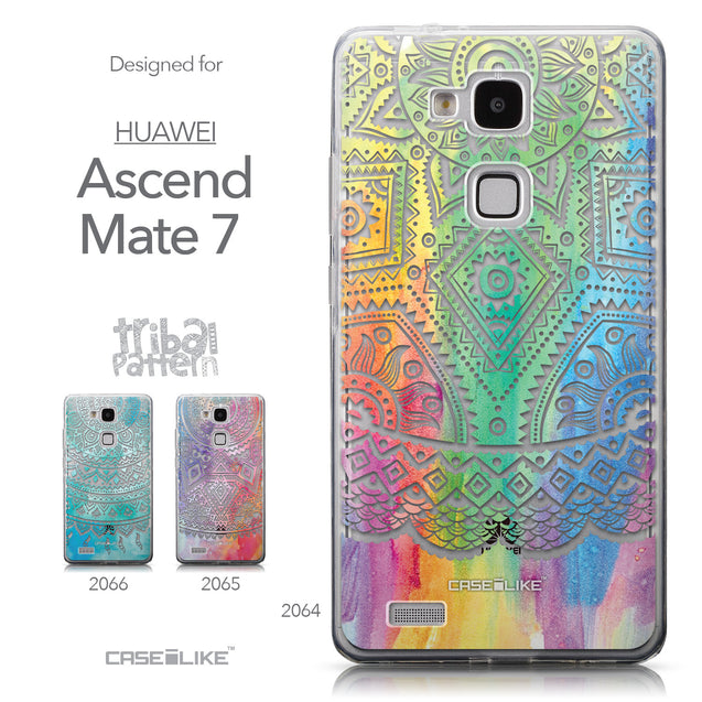 Collection - CASEiLIKE Huawei Ascend Mate 7 back cover Indian Line Art 2064