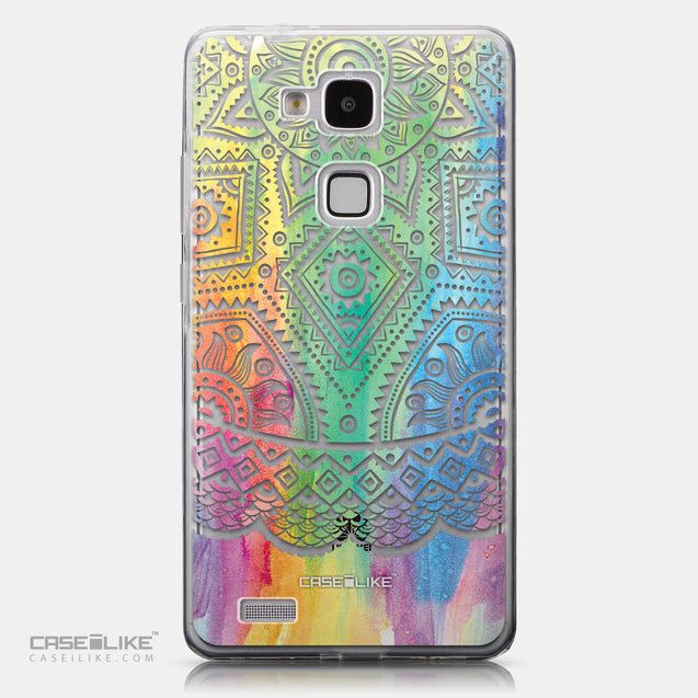 CASEiLIKE Huawei Ascend Mate 7 back cover Indian Line Art 2064