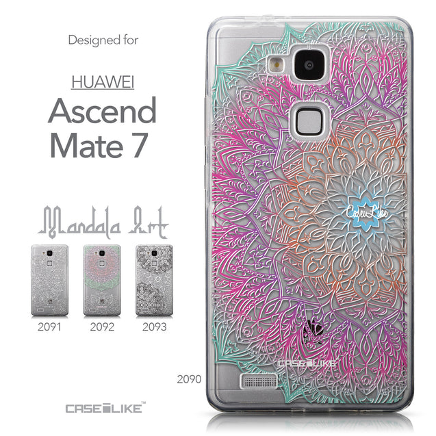 Collection - CASEiLIKE Huawei Ascend Mate 7 back cover Mandala Art 2090