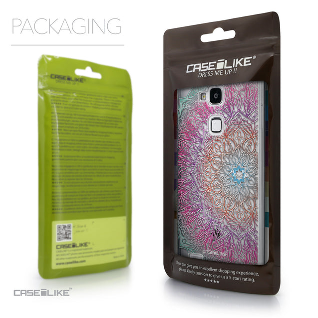 Packaging - CASEiLIKE Huawei Ascend Mate 7 back cover Mandala Art 2090