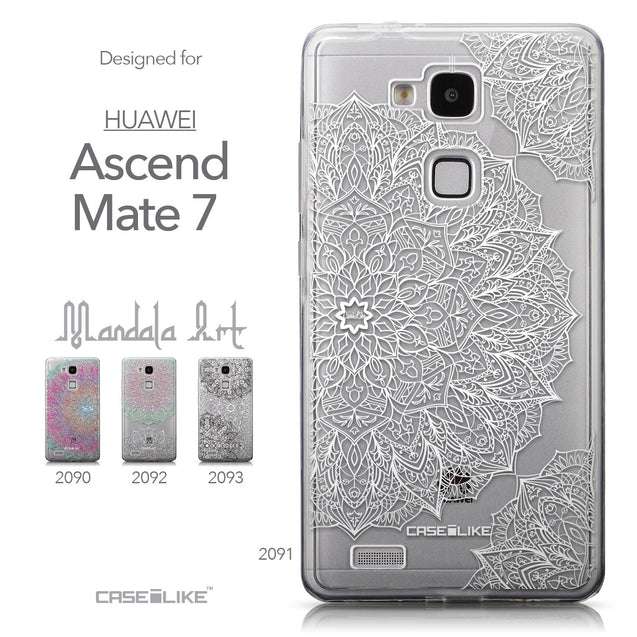 Collection - CASEiLIKE Huawei Ascend Mate 7 back cover Mandala Art 2091