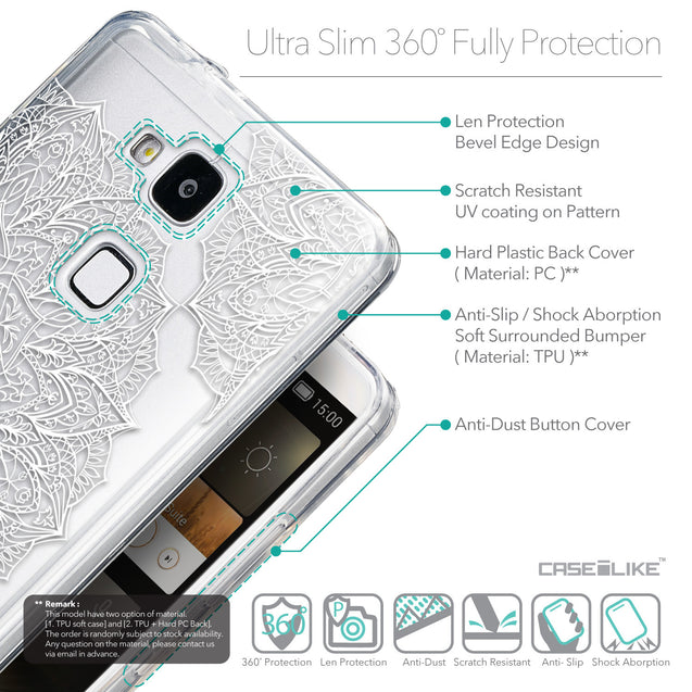 Details in English - CASEiLIKE Huawei Ascend Mate 7 back cover Mandala Art 2091