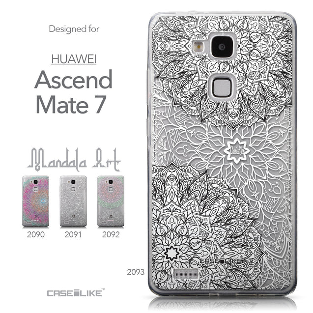 Collection - CASEiLIKE Huawei Ascend Mate 7 back cover Mandala Art 2093