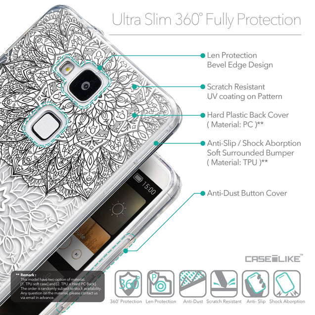 Details in English - CASEiLIKE Huawei Ascend Mate 7 back cover Mandala Art 2093