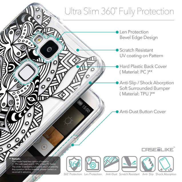 Details in English - CASEiLIKE Huawei Ascend Mate 7 back cover Mandala Art 2096