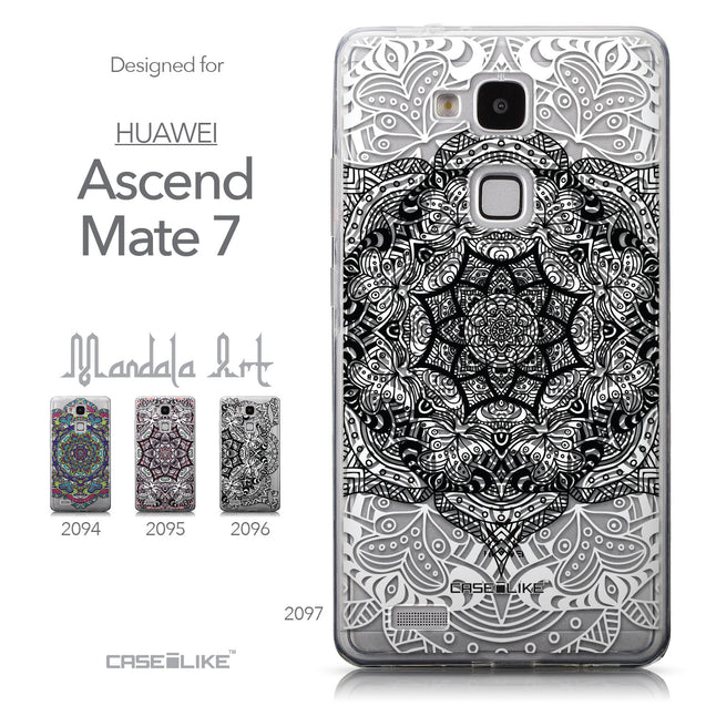 Collection - CASEiLIKE Huawei Ascend Mate 7 back cover Mandala Art 2097