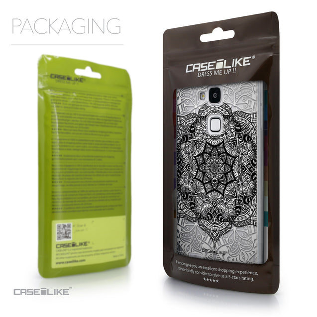 Packaging - CASEiLIKE Huawei Ascend Mate 7 back cover Mandala Art 2097