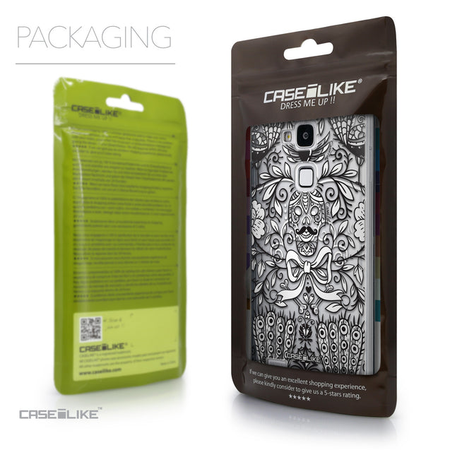 Packaging - CASEiLIKE Huawei Ascend Mate 7 back cover Roses Ornamental Skulls Peacocks 2227