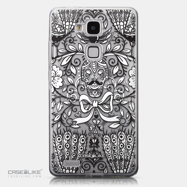 CASEiLIKE Huawei Ascend Mate 7 back cover Roses Ornamental Skulls Peacocks 2227