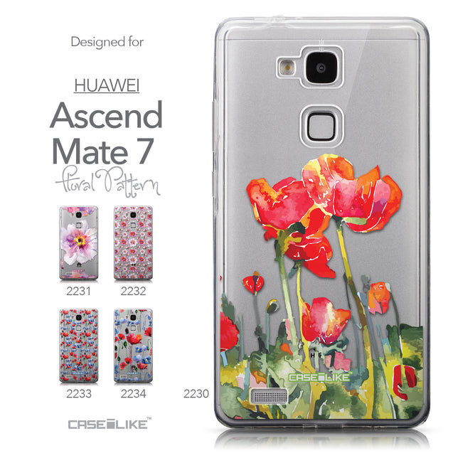 Collection - CASEiLIKE Huawei Ascend Mate 7 back cover Watercolor Floral 2230