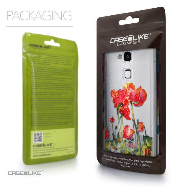 Packaging - CASEiLIKE Huawei Ascend Mate 7 back cover Watercolor Floral 2230