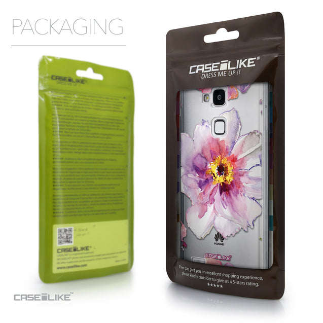 Packaging - CASEiLIKE Huawei Ascend Mate 7 back cover Watercolor Floral 2231