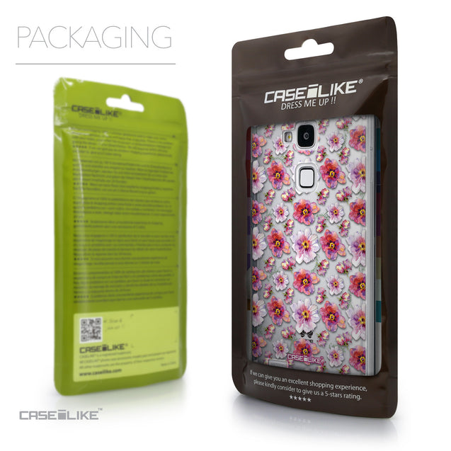 Packaging - CASEiLIKE Huawei Ascend Mate 7 back cover Watercolor Floral 2232