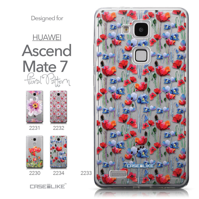 Collection - CASEiLIKE Huawei Ascend Mate 7 back cover Watercolor Floral 2233