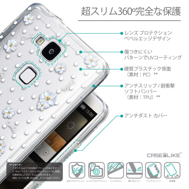 Details in Japanese - CASEiLIKE Huawei Ascend Mate 7 back cover Indian Line Art 2061