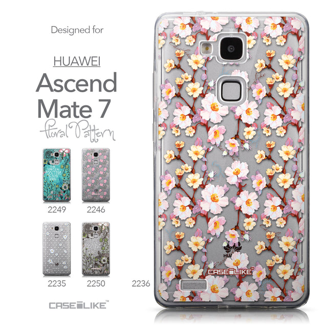 Collection - CASEiLIKE Huawei Ascend Mate 7 back cover Watercolor Floral 2236
