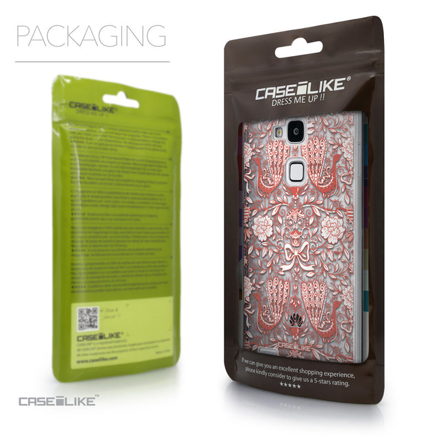 Packaging - CASEiLIKE Huawei Ascend Mate 7 back cover Roses Ornamental Skulls Peacocks 2237