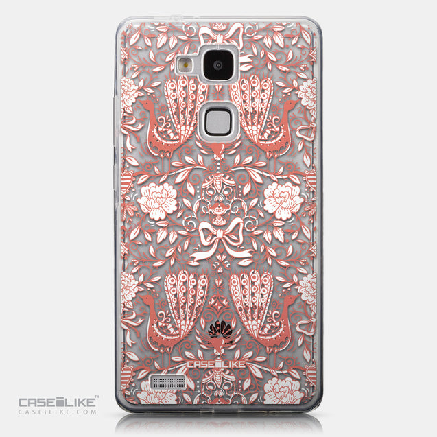 CASEiLIKE Huawei Ascend Mate 7 back cover Roses Ornamental Skulls Peacocks 2237