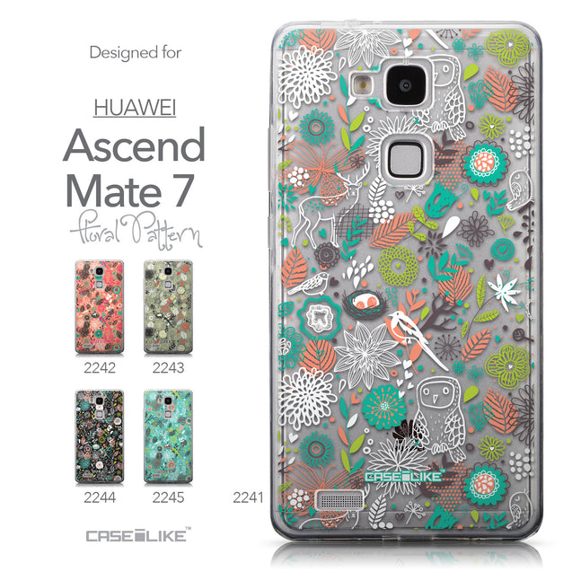 Collection - CASEiLIKE Huawei Ascend Mate 7 back cover Spring Forest White 2241