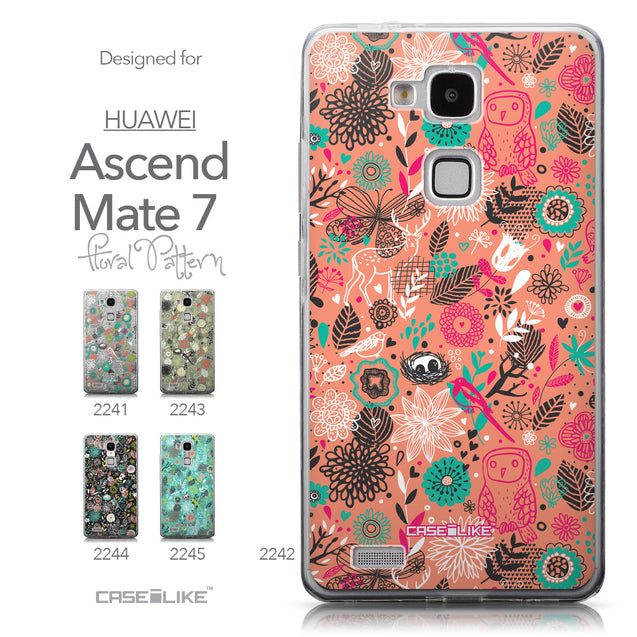 Collection - CASEiLIKE Huawei Ascend Mate 7 back cover Spring Forest Pink 2242