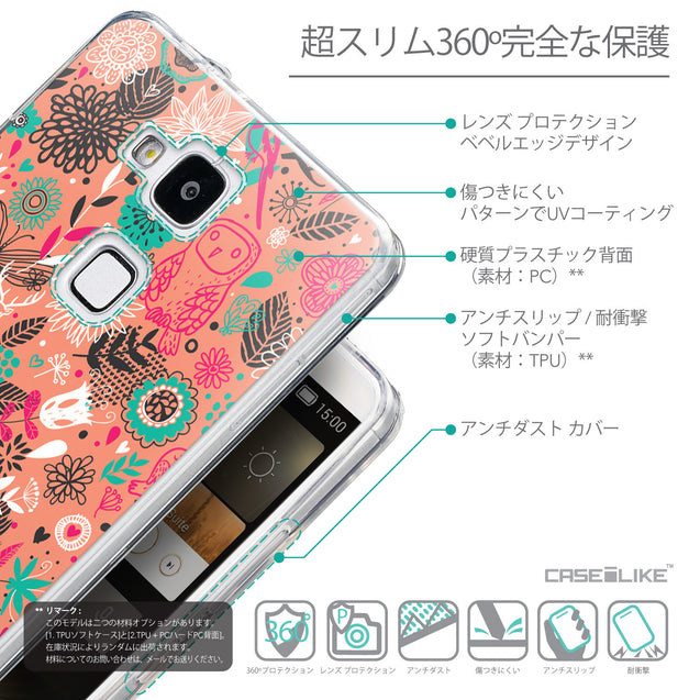 Details in Japanese - CASEiLIKE Huawei Ascend Mate 7 back cover Spring Forest Pink 2242