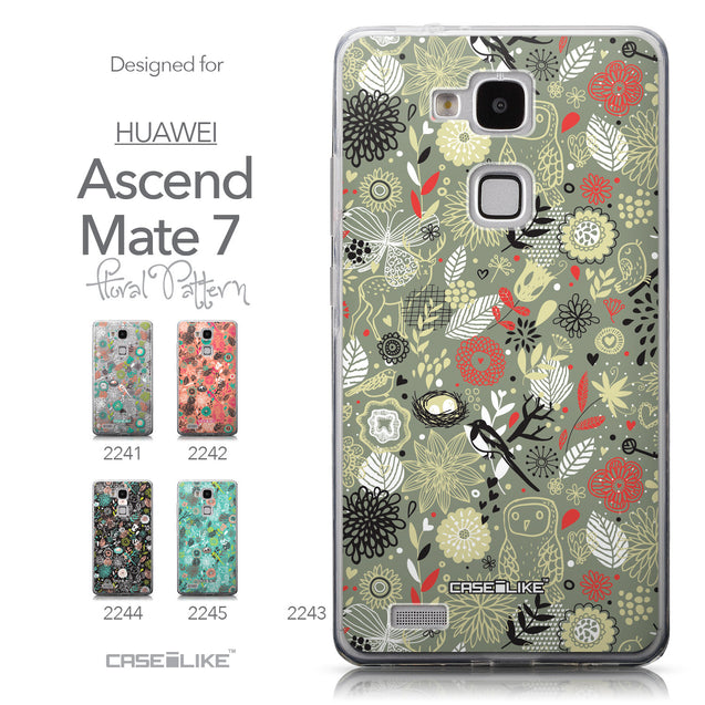 Collection - CASEiLIKE Huawei Ascend Mate 7 back cover Spring Forest Gray 2243