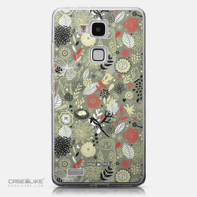 CASEiLIKE Huawei Ascend Mate 7 back cover Spring Forest Gray 2243