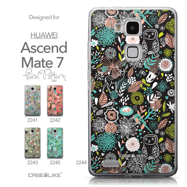 Collection - CASEiLIKE Huawei Ascend Mate 7 back cover Spring Forest Black 2244
