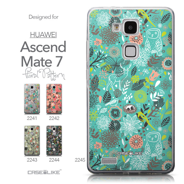 Collection - CASEiLIKE Huawei Ascend Mate 7 back cover Spring Forest Turquoise 2245