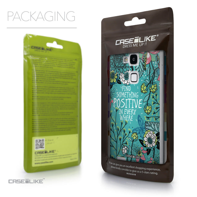 Packaging - CASEiLIKE Huawei Ascend Mate 7 back cover Blooming Flowers Turquoise 2249