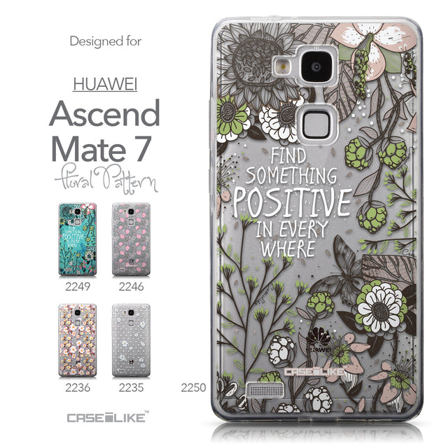 Collection - CASEiLIKE Huawei Ascend Mate 7 back cover Blooming Flowers 2250