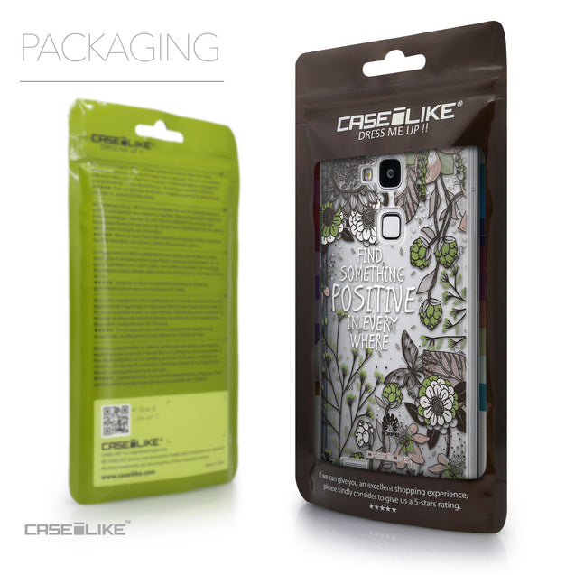 Packaging - CASEiLIKE Huawei Ascend Mate 7 back cover Blooming Flowers 2250
