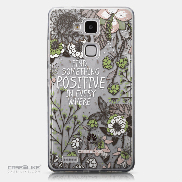 CASEiLIKE Huawei Ascend Mate 7 back cover Blooming Flowers 2250