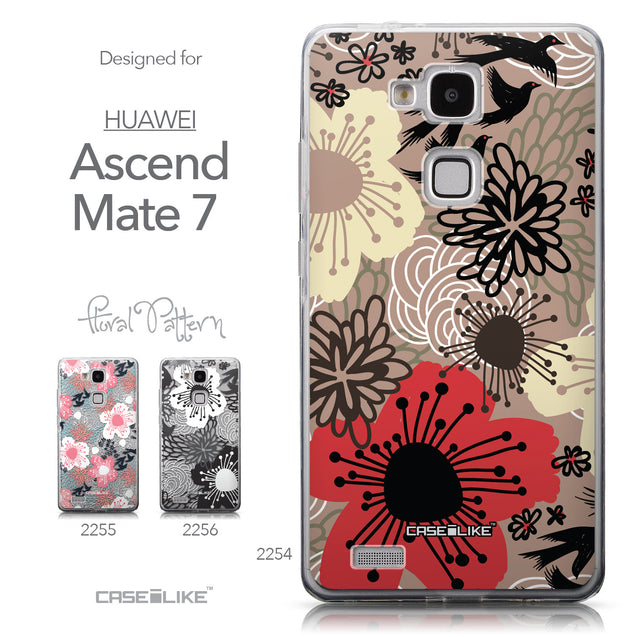 Collection - CASEiLIKE Huawei Ascend Mate 7 back cover Japanese Floral 2254