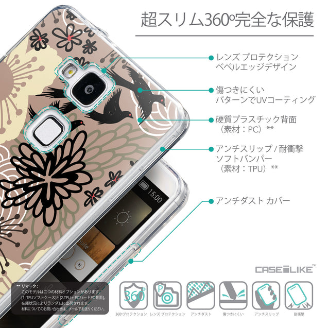 Details in Japanese - CASEiLIKE Huawei Ascend Mate 7 back cover Japanese Floral 2254