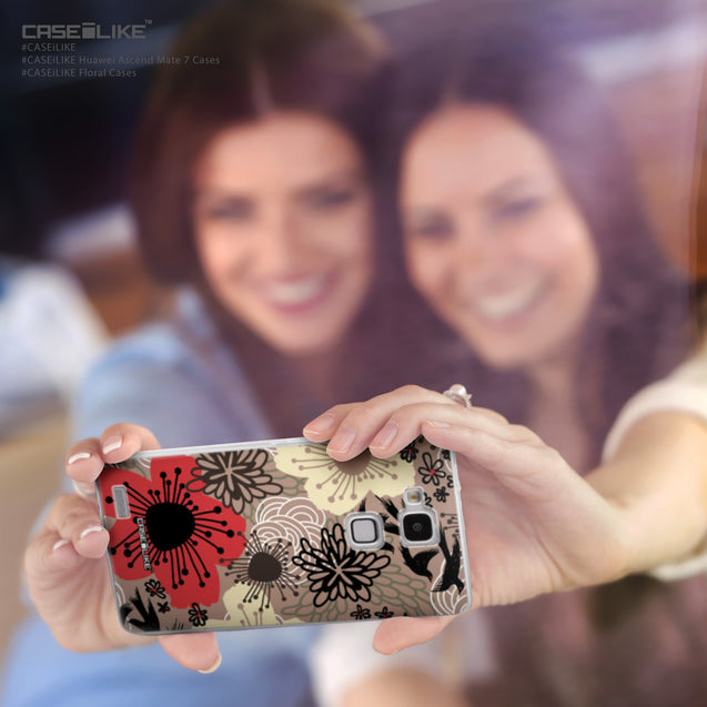 Share - CASEiLIKE Huawei Ascend Mate 7 back cover Japanese Floral 2254