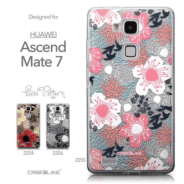 Collection - CASEiLIKE Huawei Ascend Mate 7 back cover Japanese Floral 2255