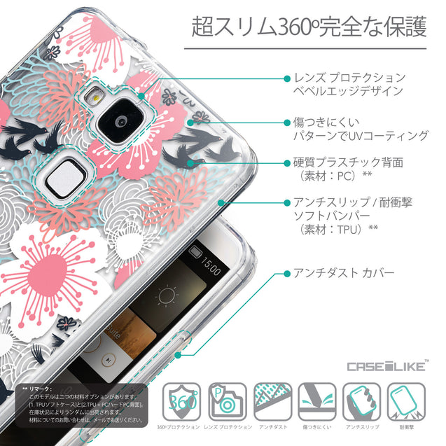 Details in Japanese - CASEiLIKE Huawei Ascend Mate 7 back cover Japanese Floral 2255
