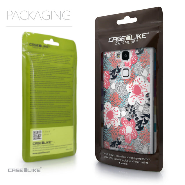 Packaging - CASEiLIKE Huawei Ascend Mate 7 back cover Japanese Floral 2255