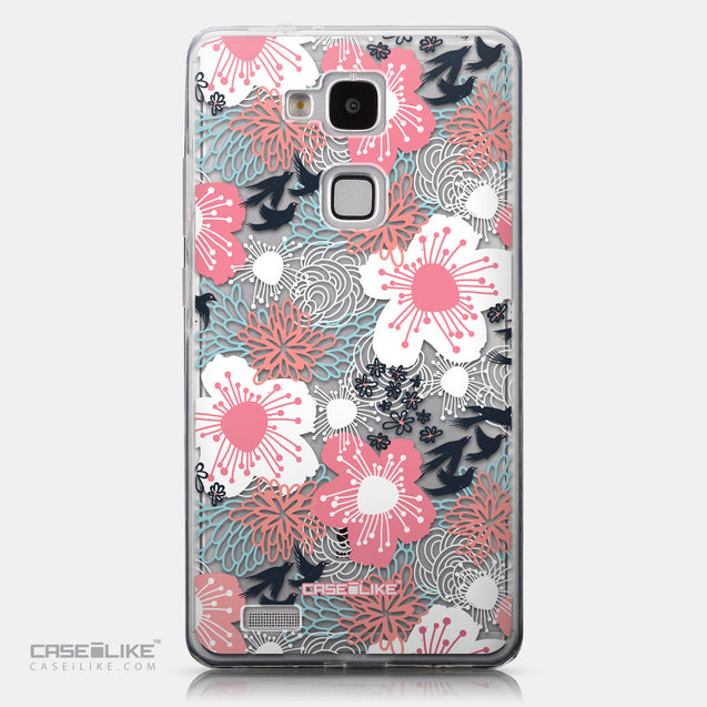 CASEiLIKE Huawei Ascend Mate 7 back cover Japanese Floral 2255