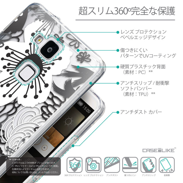 Details in Japanese - CASEiLIKE Huawei Ascend Mate 7 back cover Japanese Floral 2256