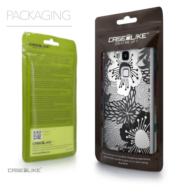 Packaging - CASEiLIKE Huawei Ascend Mate 7 back cover Japanese Floral 2256