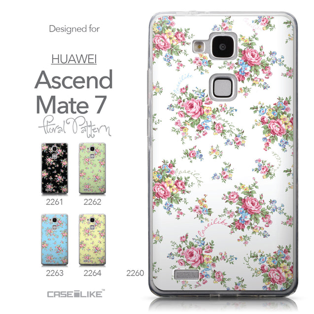 Collection - CASEiLIKE Huawei Ascend Mate 7 back cover Floral Rose Classic 2260