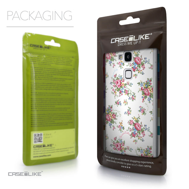 Packaging - CASEiLIKE Huawei Ascend Mate 7 back cover Floral Rose Classic 2260