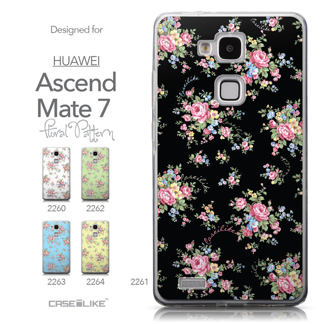 Collection - CASEiLIKE Huawei Ascend Mate 7 back cover Floral Rose Classic 2261