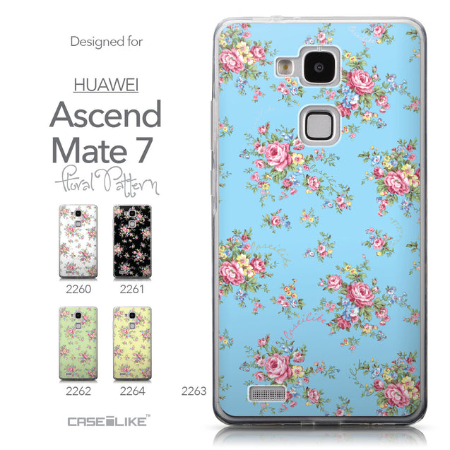 Collection - CASEiLIKE Huawei Ascend Mate 7 back cover Floral Rose Classic 2263