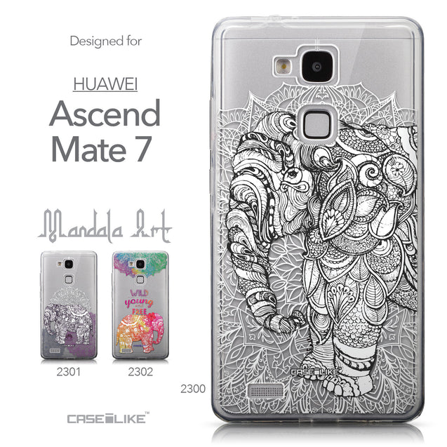 Collection - CASEiLIKE Huawei Ascend Mate 7 back cover Mandala Art 2300